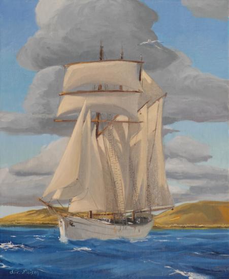 Grand voilier au large